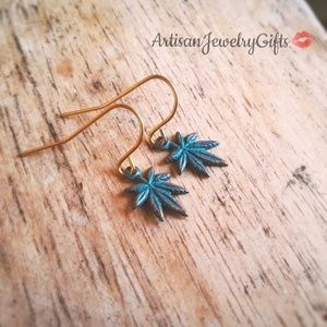 Hypo-Allergenic Weed Leaf Earrings Stoner Gift